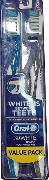 Oral-b 3d White Radiant Medium Toothbrushes