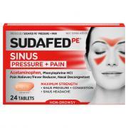 Sudafed PE Pressure & Pain Caplets