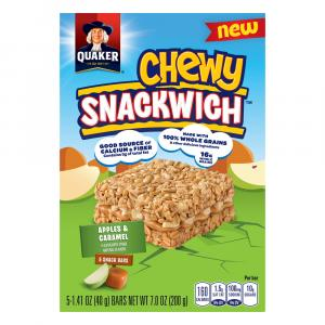 Quaker Chewy Snackwich Apples & Caramel Bars