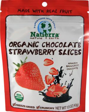 Natierra Organic Chocolate Strawberry Slices