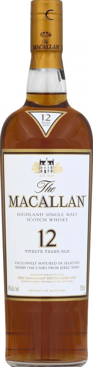 The Macallan 12 Year Whiskey