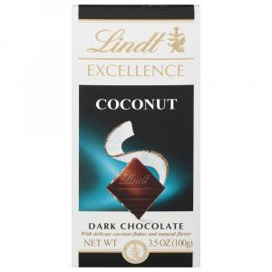 Lindt Excellence Dark Chocolate Coconut Bar
