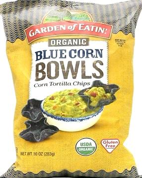 Garden Of Eatin' Organic Blue Corn Bowls Corn Tortilla Chips