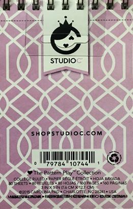 "Studio C Pattern Play Collection 3"" X 5"" Memo Pad"
