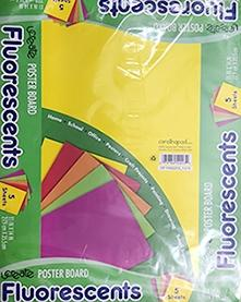 Ucreate Assorted Fluorescents Posterboard