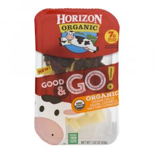 Horizon Organic Good & Go! Cheddar Cheese, Raisins, Cashews,