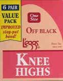 L'eggs Day Sheer Sheer Toe Off Black Knee Highs