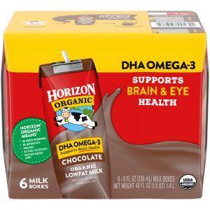 Horizon Organic DHA Omega-3 Chocolate Lowfat Milk