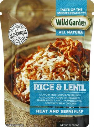Wild Garden Rice and Lentils