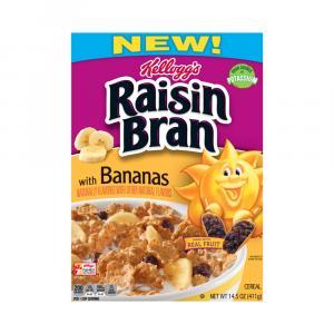 Kellogg's Raisin Bran With Banana Cereal