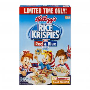 Kellogg's Red White & Blue Rice Krispies Cereal