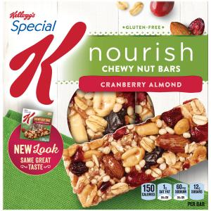 Kellog's Special K Chewy Nut Bars Cranberry Almond