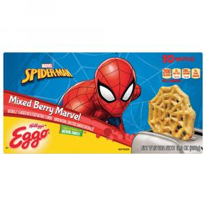 Eggo Spiderman Mixed Berry Waffles