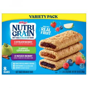 Kellogg's Nutri-Grain Variety Pack Breakfast Bars