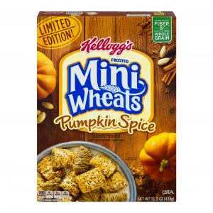 Kellogg's Frosted Mini Wheats Pumpkin Spice Cereal