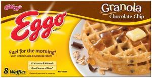 Eggo Granola Chocolate Chip Waffles