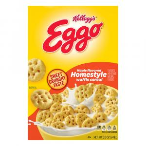 Kelloggs Eggo Maple Flavored Homestyle Waffle Cereal