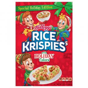 Kellogg's Rice Krispies with Holiday Colors
