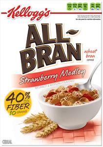 Kellogg's All-bran Strawberry Medley Cereal