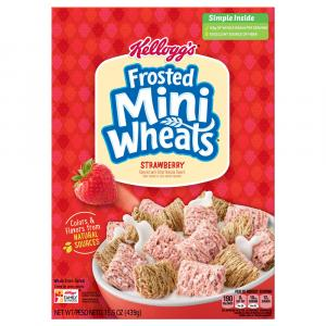 Kellogg's Frosted Mini-wheats Strawberry Cereal