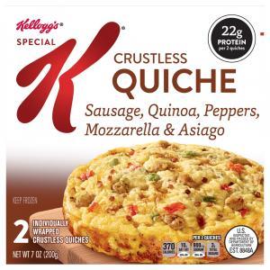 Special K Crustless Quiche Sausage Quinoa Peppers Mozzarella
