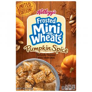 Kellogg Frosted Mini Wheats Pumpkin Spice Cereal