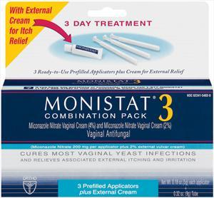 Monistat 3-day Cream Combination Pack