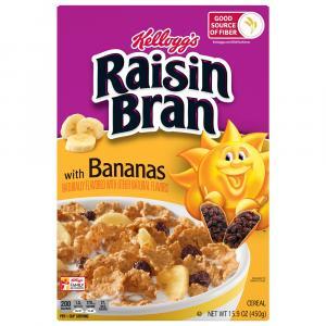 Kellogg's Raisin Bran with Bananas Cereal