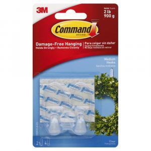 Command 3m Medium Clear Hooks