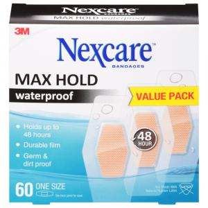Nexcare Max Hold Waterproof Bandages Value Pack One Size