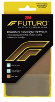 Futuro Revitalizing Ultra Sheer Knee Highs for Women Medium