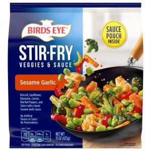 Birds Eye Sesame Garlic Stir Fry Veggies & Sauce