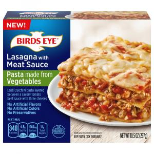 Birds Eye Lasagna with Meat Sauce