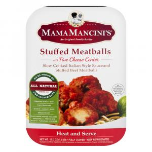 Mama Mancinis Stuffed Meatballs With Five Cheese Center