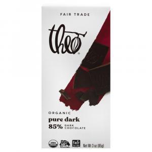 Theo Organic Pure 85% Dark Chocolate Bar