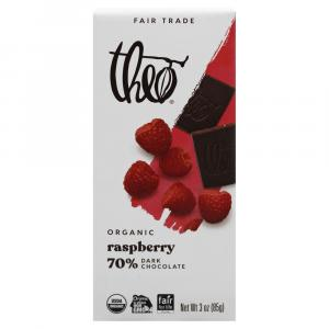 Theo Organic Raspberry 70% Dark Chocolate Bar