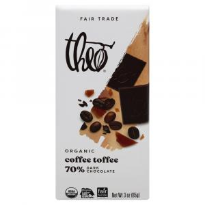 Theo Organic Coffee Toffee 70% Dark Chocolate