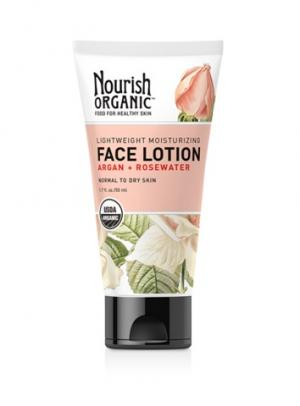 Nourish Organic Lightweight Moisturizing Face Lotion