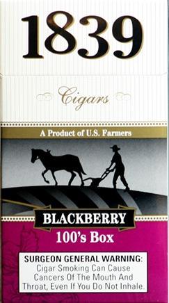 1839 Cigar 100 Blackberry Box