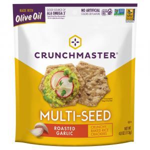 Crunchmaster Roasted Garlic Multi-Seed Crackers