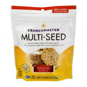 Crunchmaster Roasted Garlic Multi-seed Crackers