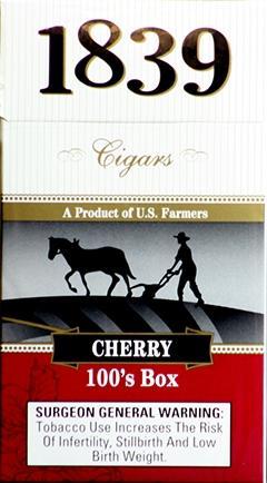 1839 Cigar 100 Cherry Box