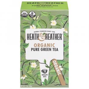 Heath & Heather Organic Pure Green Tea