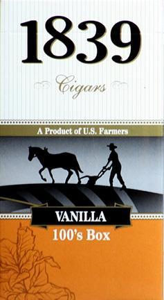 1839 Cigar 100 Vanilla Box