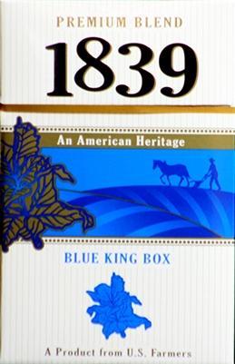 1839 Blue King Box Cigarettes