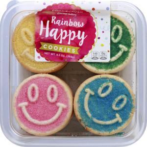 Cookie Crush Rainbow Happy Cookies