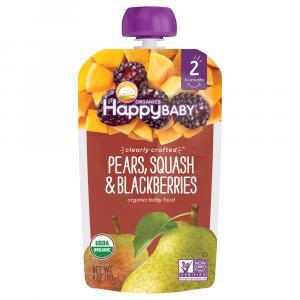 Happy Baby Stage 2 Baby Food Pears, Squash & Blackberries