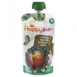Happy Baby Stage 2 Baby Food Apple, Spinach, Kale