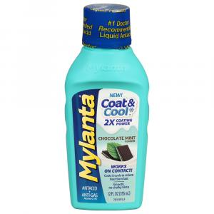 Mylanta Coat & Cool Chocolate Mint Flavor Liquid
