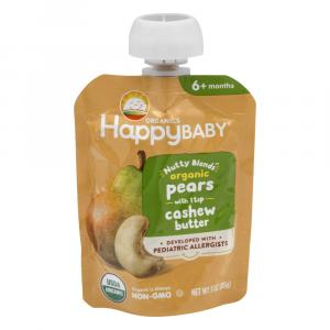 Happy Baby Organic Nutty Blends Pears with Cashew Butter